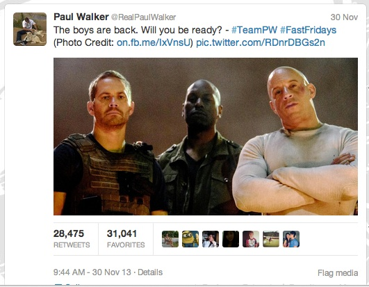 paul walker tweet copy
