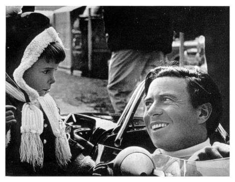 The last ever photograph taken of Jim Clark with a young fan at Hockenheimring
