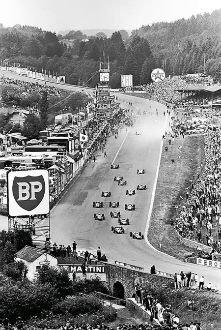 The start of the Belgian Grand Prix in 1960 that marked the darkest day in Formula one history