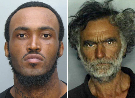 Rudy Eugene, 31, left, who police shot and killed as he ate the face of Ronald Poppo, 65.